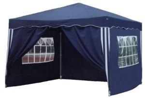 Ein blauer Pavillon