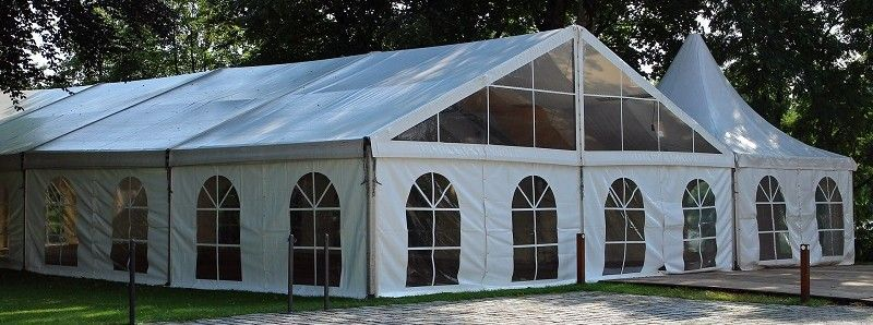Großer weißer Pavillon 4x4