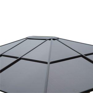 pavillon mit festem dach. Black Bedroom Furniture Sets. Home Design Ideas